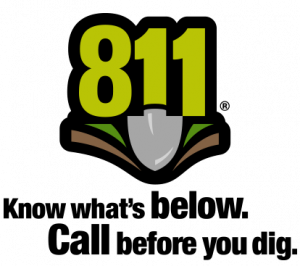 811 Know what's below. Call before you dig.