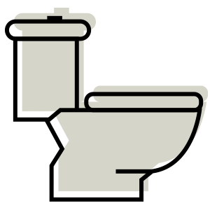 Illustration of a toilet